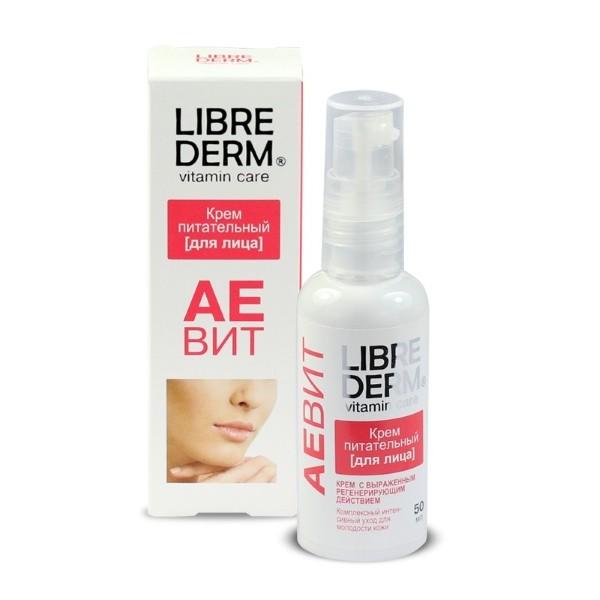 LIBREDERM АЕВИТ Крем для лица питательный тонизирует и освежает уставшую кожу