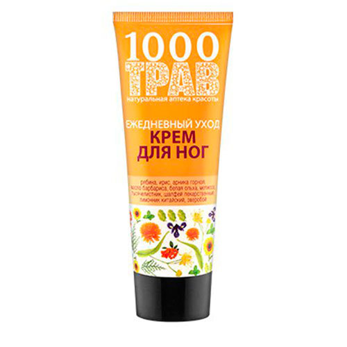 1000 трав Крем для ног Ежедневный уход