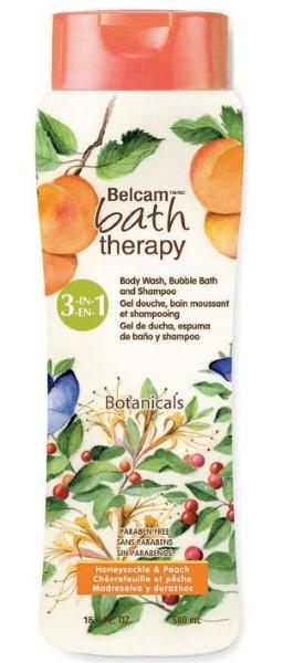 Bath Therapy Ботаникал 3в1 шампунь, гель для душа, пена для ванн Жимолость и Персик