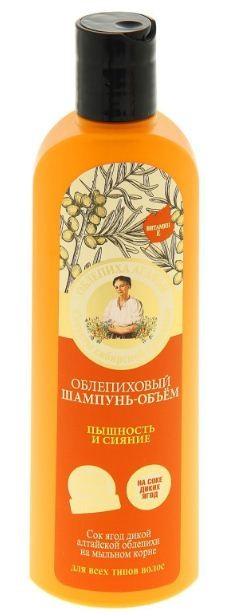 Рецепты Б.Агафьи Шампунь для волос объем облепиховый пышность и сияние 280 мл.