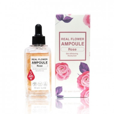 May Island Осветляющая сыворотка с лепестками розы Real Flower Ampoule 100 мл — Makeup market