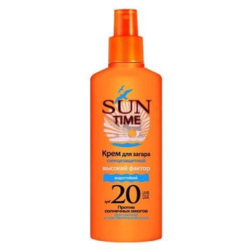 БИОКОН Sune Time Спрей-Крем для безопасного загара SPF20 150мл