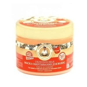 Рецепты Б.Агафьи Маска-обертывание облепиховое для волос блеск и сияние 300 мл.