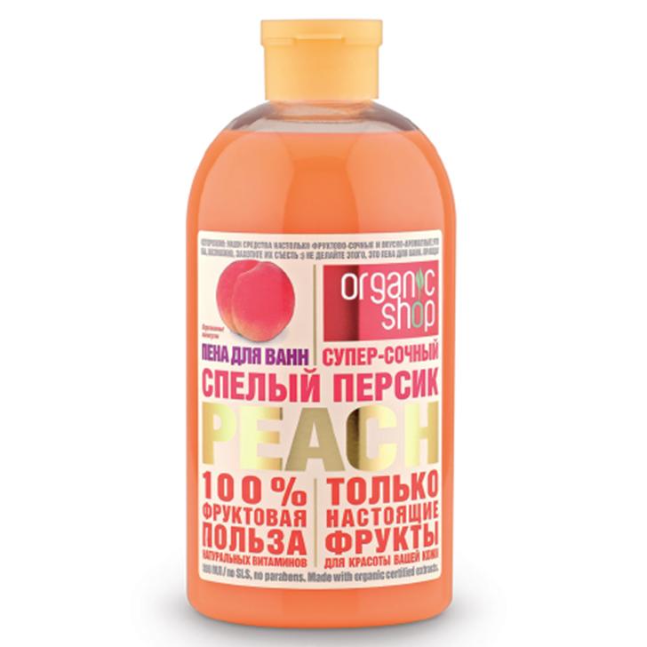 Organic shop Пена для ванн спелый персик 500мл.
