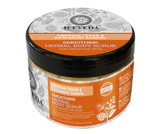 Eurobiolab Iceveda Скраб для тела для гладкости чувствительной кожи Сибирский кедр