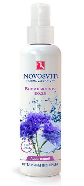NOVOSVIT Спрей-Aqua Васильковая вода Витамины для лица