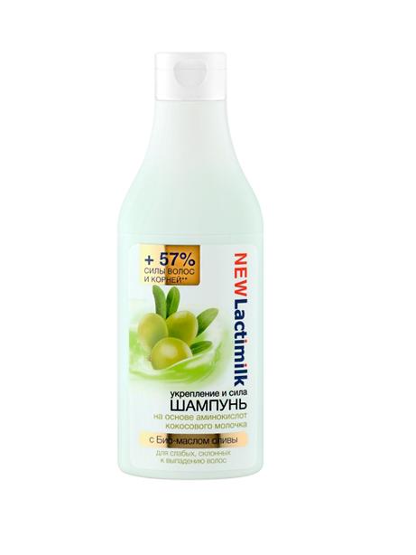Lactimilk шампунь для слабых, склонных к выпадению волос укрепление и сила