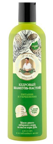Рецепты Б.Агафьи Бальзам настой для волос питание и укрепление кедровый 280 мл.