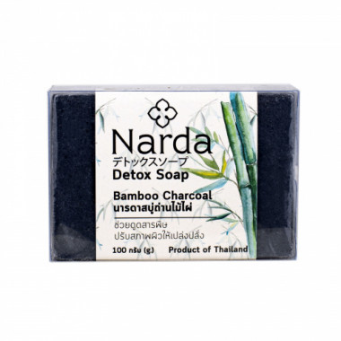 Twin Lotus Мыло с бамбуковым углем 100 г Narda Bamboo Charcoal soap 100 g — Makeup market