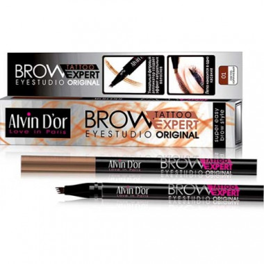 Alvin d'or Лайнер для бровей Brow Tattoo 01 light brown — Makeup market