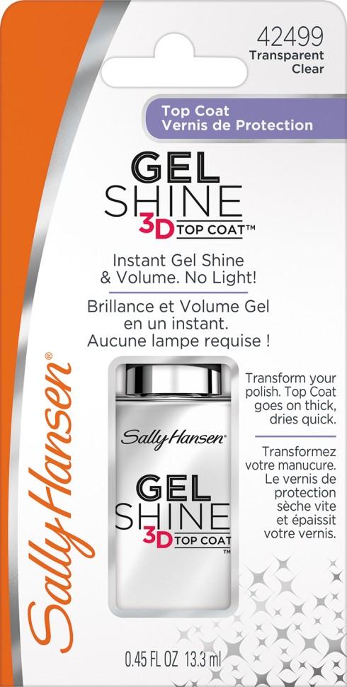 Sally Hansen Nailcare Верхнее покрытие с гелевым блеском 3d gel shine 3d top coat 13,3 мл