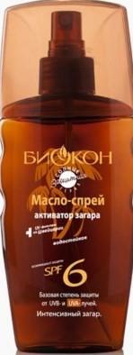 БИОКОН СОЛНЦЕ ЗАЩИТА Масло-спрей Активатор загара SPF-6 165мл (Биокон)