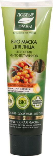 Добрые травы Маска для лица источник фито-витаминов 75 мл.