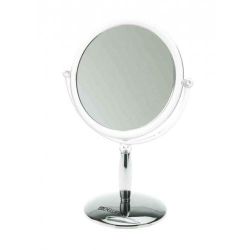 Dewal Зеркало настольное пластик, серебристое 14х23смDewal<br><br><br>Вес г: 100<br>Бренд: Dewal
