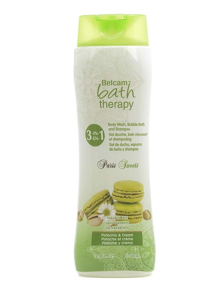 Bath Therapy Парижские сладости 3в1 шампунь, гель для душа, пена для ванн Фисташковый крем