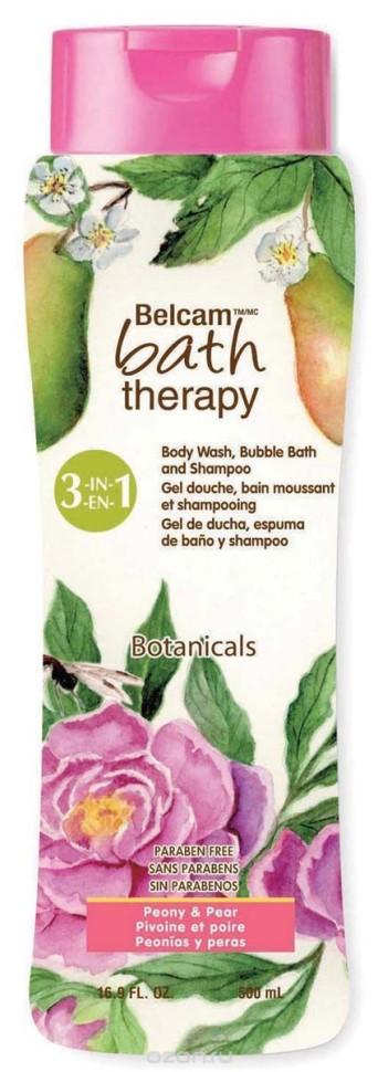 Bath Therapy Ботаникал 3в1 шампунь, гель для душа, пена для ванн Пион и Груша