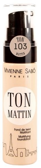 Vivienne Sabo матирующий тональный крем Ton mattin (№103 бежевый)