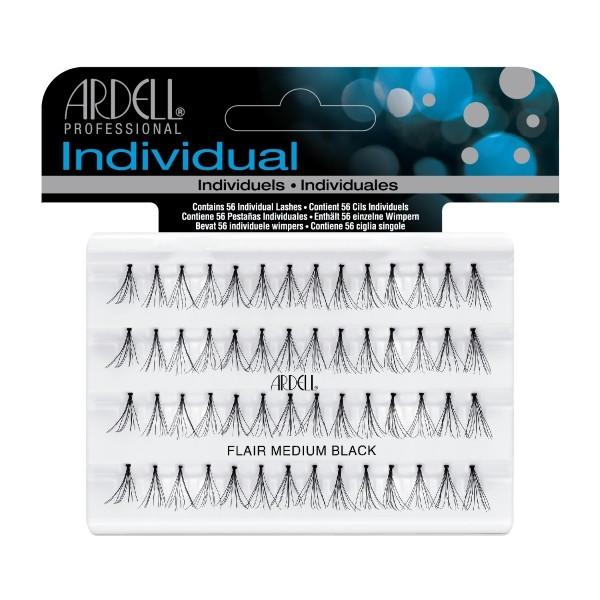 ARDELL Professional Пучки ресниц безузелковые средние черные (Ardell)
