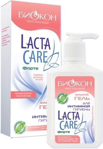 БИОКОН Lacta Care ИНТИМ Форте Жидкий Гель для интимной гигиены PH 3,5, 270мл